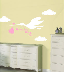 PAINTLESS design Nursery wall decals, Kid wall stickers